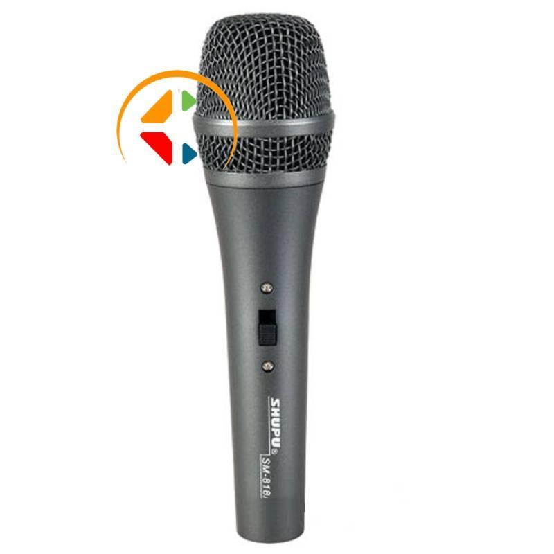 Micro dây Shupu SM-818A hát karaoke gia đình