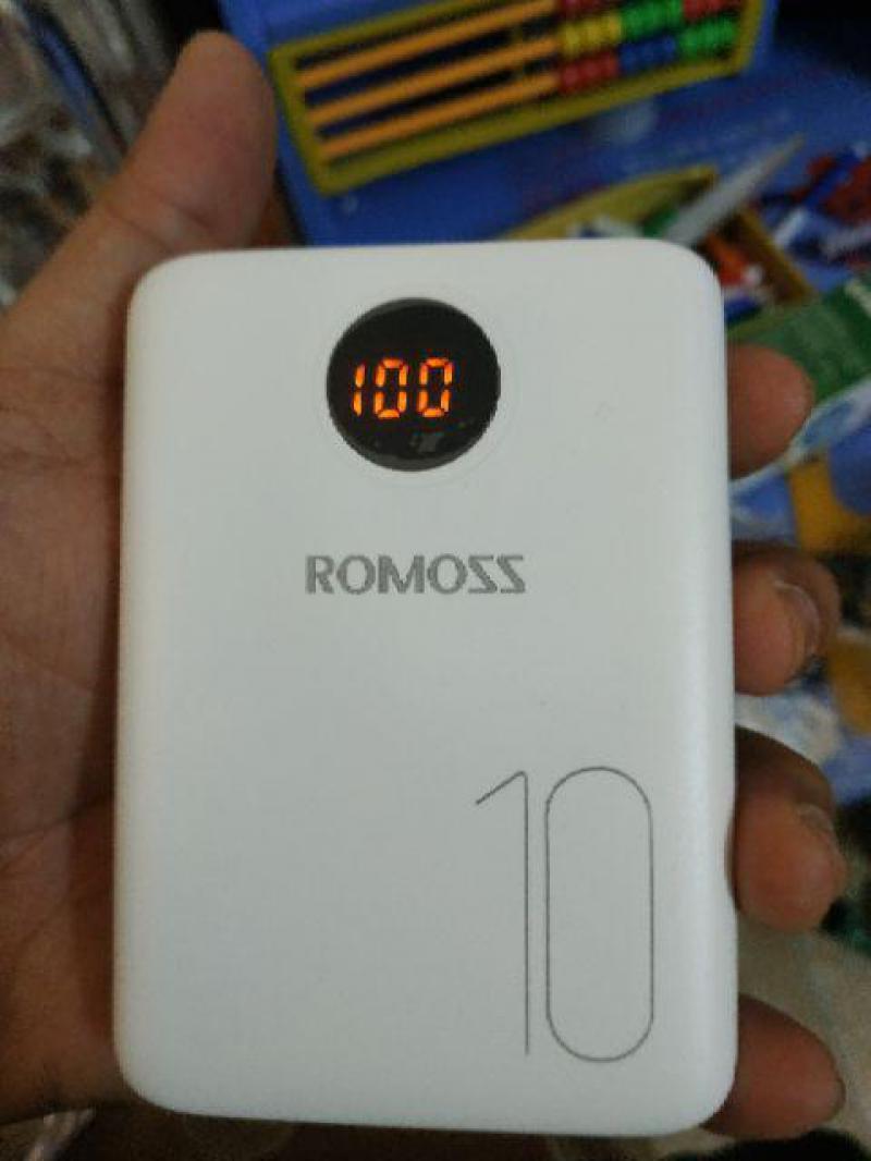 Pin sạc dự phòng Romoss OM10 mini 10.000mAh 3 cổng sạc chính hãng