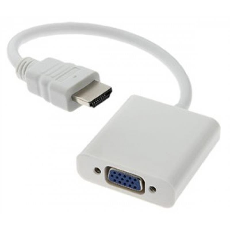 Cáp chuyển đổi HDMI ra VGA (ko có cáp audio 3.5 2 đầu)