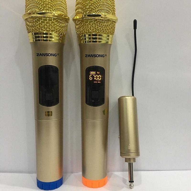 Bộ 2 micro hát karaoke không dây Zansong S28